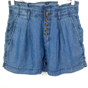 New! American Eagle Chambray Super High Rise Short